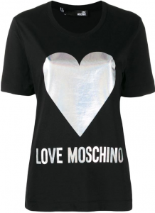 T-shirt Love Moschino Cuore Argento