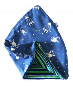 Astronauta cappello doppio in cotone e ciniglia