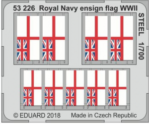 Royal Navy ensign flag WWII STEEL