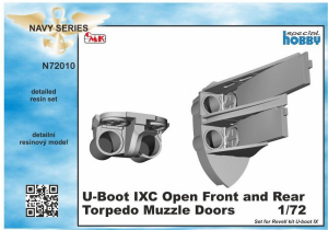 U-Boot IX Open Front and Rear Torpedo Muzzle Doors, for Revell kit