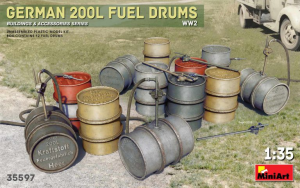 GERMAN 200L FUEL DRUMS WW2
