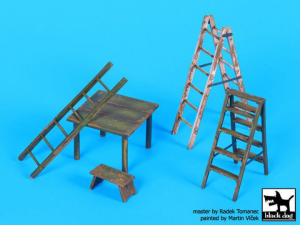 Ladders and table