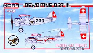 Dewoitine D.27 III. Swiss AF Silver Wings II.