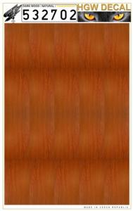 Natural dark wood - Transparent