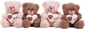 ORSO LOVE Cm.16 2 COLORI 18023 LLOPIS PELUCHES