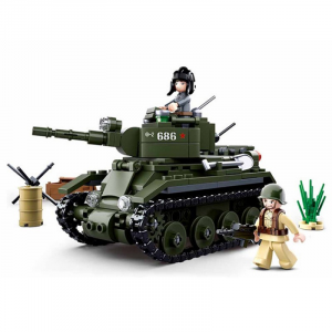 Sluban WWII Allied cavalry tank  M38-B0686