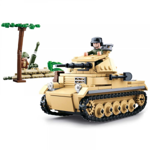 Sluban WWII small German tank  M38-B0691