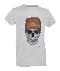 t-shirt defcon 5 con teschio e berretto