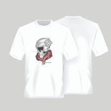 t-shirt defcon 5 con teschio
