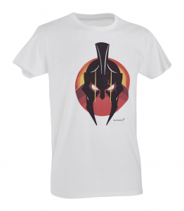 t-shirt defcon 5 spartan helmet