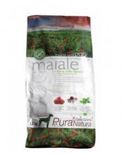 Crocchette Pura Natura Grain Free Adult  Maiale  12 kg