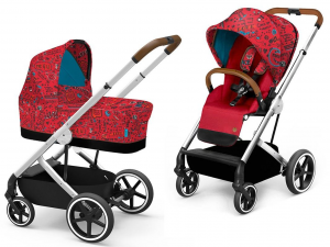 Cybex - 2 in 1 - Balios S - Love Balios S & Cot S Fashion Collection Gold Red