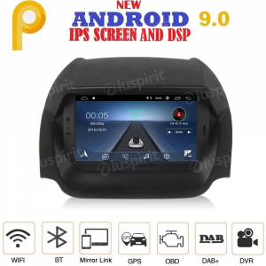 ANDROID 9.0 GPS DVD USB SD WI-FI Bluetooth Mirrorlink autoradio navigatore per Ford Ecosport 2013-2017