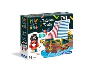 Play Creative -Il Galeone del Pirata. Clementoni adatto da 4/6 anni