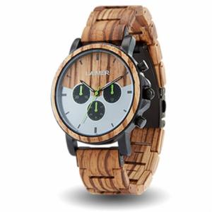 orologio laimer in legno cronografo