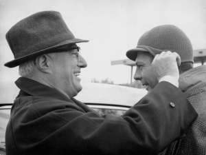 De Sica and Mastroianni, 1963