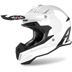 CASCO MOTO CROSS AIROH TERMINATOR COLOR WHITE GLOSS 2020 TOV14