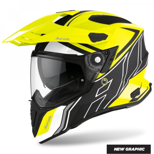 CASCO MOTO AIROH COMMANDER DUO YELLOW MATT 2020 CMD31
