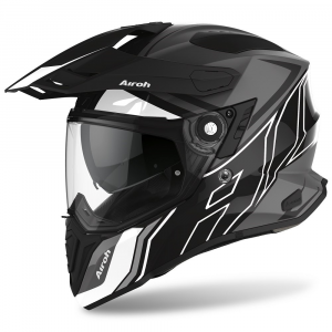 CASCO MOTO AIROH COMMANDER DUO BLACK GLOSS/MATT 2020 CMD35
