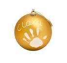 Pallina Di Natale In Plastica Set Per Disegnare Impronta Bambino Oro Baby art