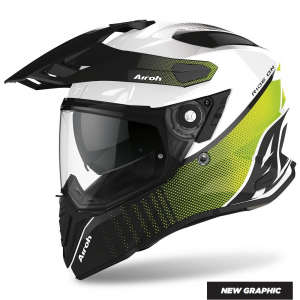 CASCO MOTO AIROH COMMANDER PROGRESS LIME GLOSS 2020 CMP33