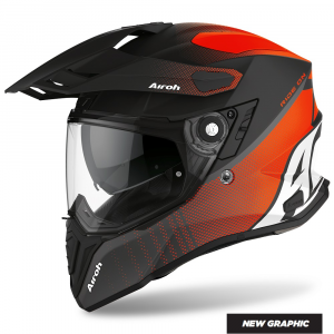 CASCO MOTO AIROH COMMANDER PROGRESS ORANGE MATT 2020 CMP32