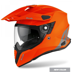 CASCO MOTO AIROH COMMANDER COLOR ORANGE MATT 2020 CM32