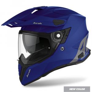 CASCO MOTO AIROH COMMANDER COLOR BLUE MATT 2020 CM19