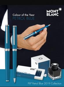 Penna a sfera Montblanc PIX Petrol Blue