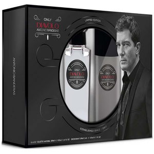 Antonio Banderas Only Diavolo Eau De Toilette Spray 100ml Set 2 Parti 2019