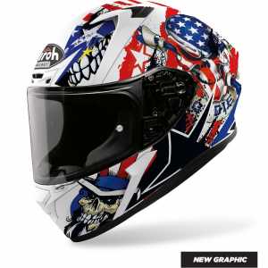CASCO INTEGRALE MOTO AIROH VALOR UNCLE SAM MATT 2020 VAUS38