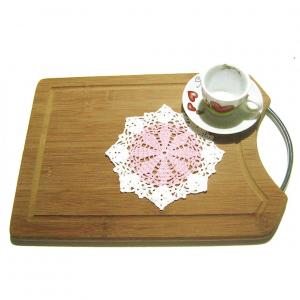 Set SOTTOBICCHIERI rosa e bianco all'uncinetto