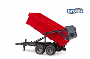 BRUDER TIPPING TRAILER (RED) 2211 BRUDER
