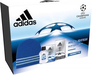 Adidas - Confezione Regalo UEFA Champions League - Arena Edition: Profumo Uomo 50 ml, Dopobarba 100 ml e Cappellino Lana Blu