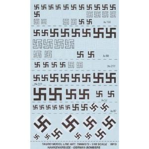 German bombers swastikas