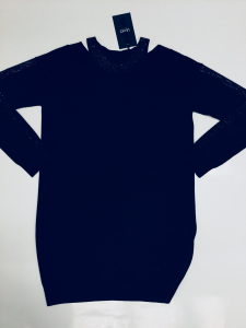 Maxi-maglia nera donna LIU.JO SPORT