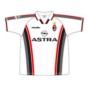 1997-98 Milan Away Match Worn #32 Donadoni