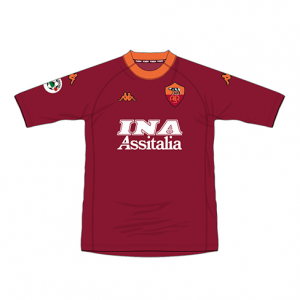 2000-01 As Roma Match Worn #8 Nakata