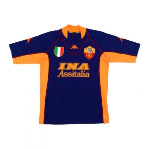 2001-02 As Roma Terza Match Worn #9 Montella