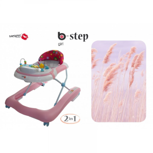 GIRELLO PRIMI PASSI 2 IN 1 BACIUZZI B-STEP - GIRL