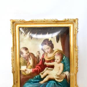 Quadro Madonna Con Bambino Cornice Dorata