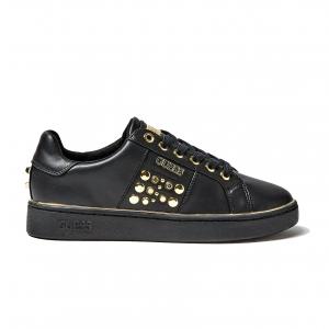 Sneaker nera con borchie Guess