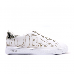 Sneaker bianca con logo laterale Guess