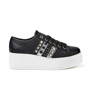 Sneaker nera con para alta Guess