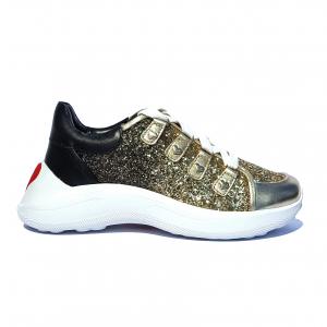 Chunky sneaker platino/nera Love Moschino