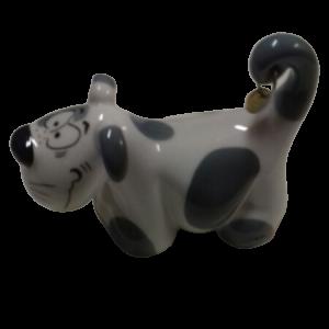 Waldi The Dog, sale e pepe in porcellana a forma di cane bianco e grigio, vendita on line | GIOIELLERIA BRUNI Imperia