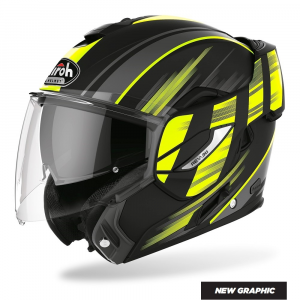 CASCO MOTO AIROH REV IKON YELLOW MATT 2020 RE19IK31