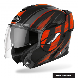 CASCO MOTO AIROH REV IKON ORANGE MATT 2020 RE19IK32