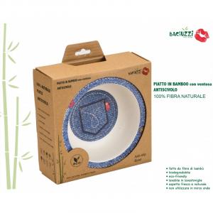 Piatto con ventosa Baciuzzi in fibra di Bamboo - Jeans