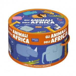 SASSI EDITORE LIBRO & PUZZLE. GLI ANIMALI DELL'AFRICA (N.E. 2019)